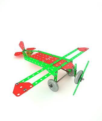 Gear Photograph - Model Aeroplane by David Parker