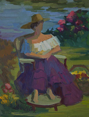 Painting - Model At Martha Lake by Diane McClary