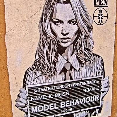 Model Wall Art -  - #model Behavior #katemoss #haute by Seen On The Streets Of Nyc