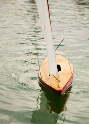 Photograph - Model Boat On Model Lake by Erin Kohlenberg
