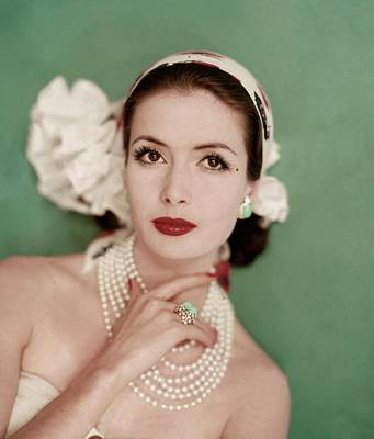Model Gitta Schilling Wearing Headband Art Print