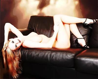 Fine Art Nude Digital Art - Model Highlights by Richard Hemingway