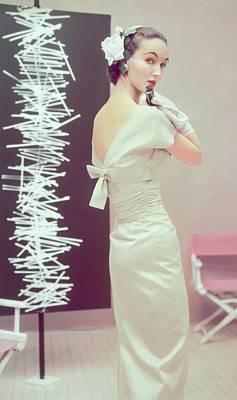 Model In A Sheath Dress Art Print
