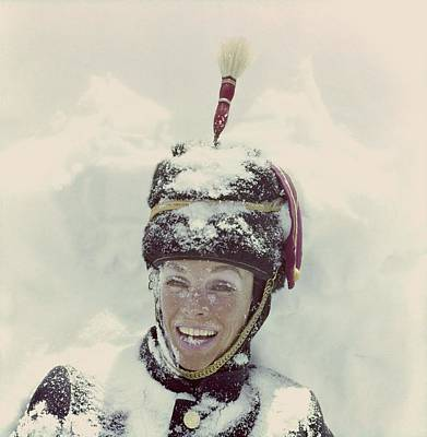 Photograph - Model In Snow Wearing A Hat by Henry Clarke