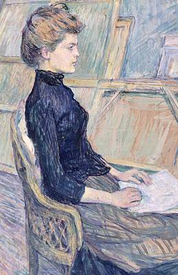 France From 1886 Painting - Model In Study  by Henri de Toulouse Lautrec