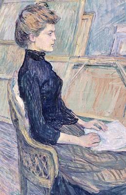 Model In Study  Art Print by Henri de Toulouse Lautrec