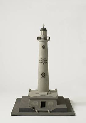 Lighthouse Drawing - Model Lighthouse J.c.j. Of Speijk In Egmond The Netherlands by Quint Lox