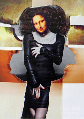Mixed Media - Model Mona by Patricia  Tierney