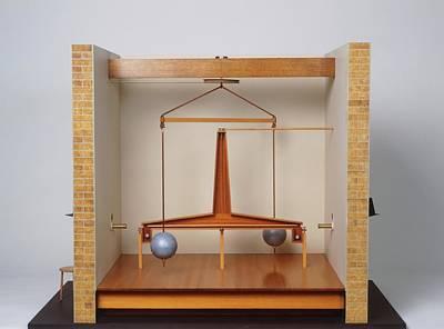Model Of A Gravitational Experiment Art Print by Dorling Kindersley/uig