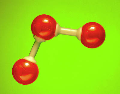 Oxygen Wall Art - Photograph - Model Of A Molecule Of Ozone by Adam Hart-davis/science Photo Library