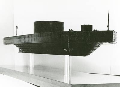 1860s Photograph - Model Of Ironclad Warship Uss Monitor by Us Navy/naval History And Heritage Command