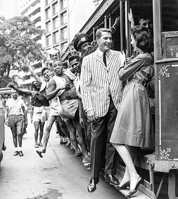 Photograph - Model On A Streetcar by Richard Waite