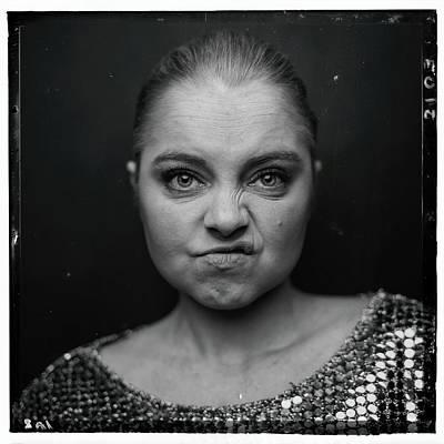 Photograph - Model Portrait, Monochrome by Ian Ross Pettigrew