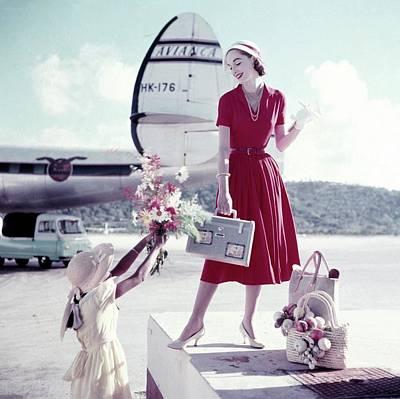 Model Romaine Simenson Stands On A Platform Art Print
