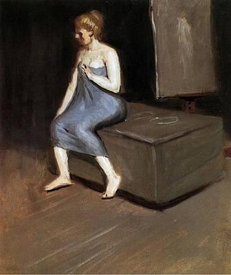 Model Sitting Art Print by Edward Hopper