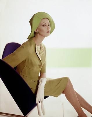Model Sitting On A George Tanier Chair Art Print