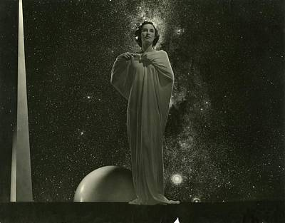 Ways Of Looking Photograph - Model Standing In Front Of The Trylon by Edward Steichen