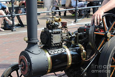 Photograph - Model Steam Engine by Katy Mei