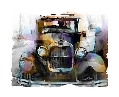 Antique Automobiles Digital Art - Model T by Bob Salo