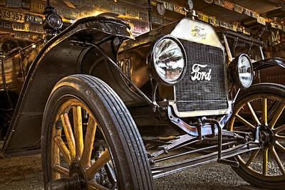 Shiney Photograph - Model T by Debra and Dave Vanderlaan