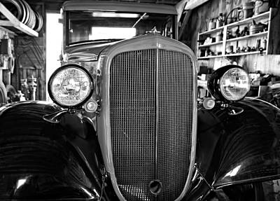 Old Tow Truck Photograph - Model T Ford Monochrome by Steve Harrington