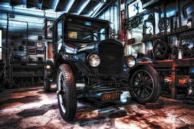Model T In Hdr Art Print