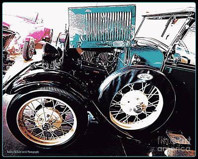 Photograph - Model T Truck Vignette by Bobbee Rickard