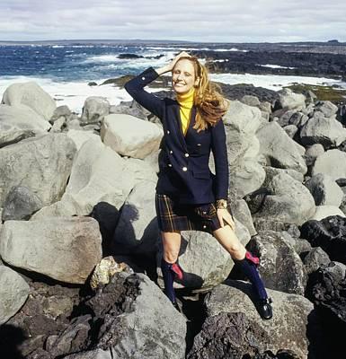 Photograph - Model Wearing A Blazer And Kilt by John Cowan