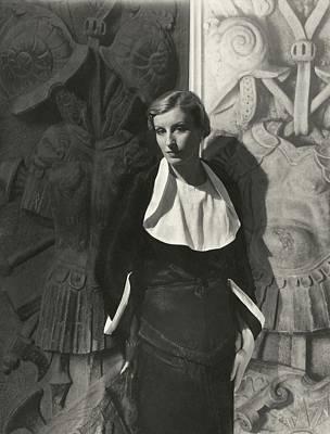 Model Wearing A Chanel Dress Art Print