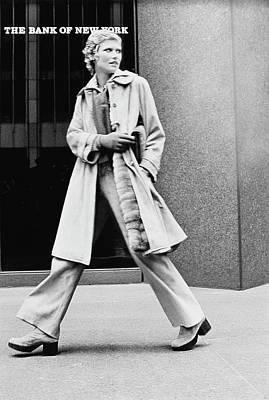 Dior Photograph - Model Wearing A Christian Dior Coat by Kourken Pakchanian