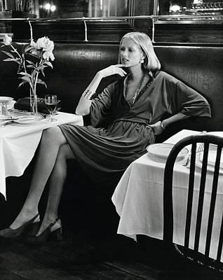 Cross Legged Photograph - Model Wearing A Concept Vii Dress In La Goulue by Kourken Pakchanian