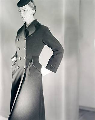 Photograph - Model Wearing A Deitsch & Conti Coat by Horst P. Horst