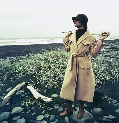 Photograph - Model Wearing A Ernst Strauss Coat by John Cowan