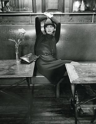 Cross Legged Photograph - Model Wearing A Frances Henaghan Ensemble In La by Kourken Pakchanian