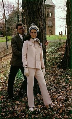 Model Wearing A Ginala Suit Art Print
