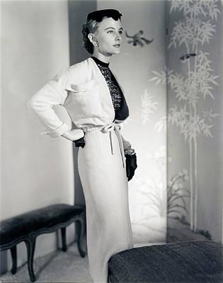 Photograph - Model Wearing A Herbert Labandter Suit by Horst P. Horst