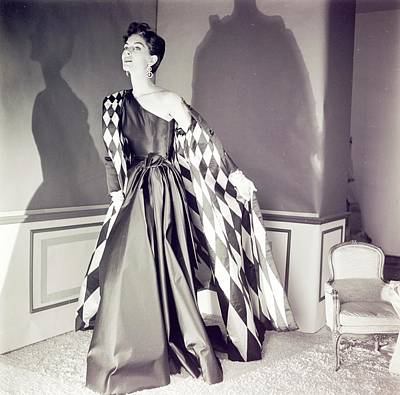 Photograph - Model Wearing A Jane Derby Coat And Dress by Horst P. Horst