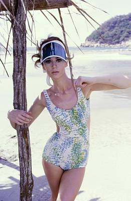 Photograph - Model Wearing A Jantzen Swimsuit In Acapulco by George Barkentin