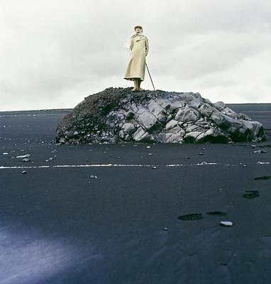 Photograph - Model Wearing A Leon Block Coat by John Cowan