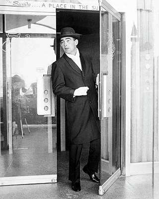 Model Wearing A Mohair Coat Art Print by Richard Waite