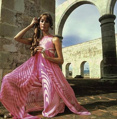 Photograph - Model Wearing A Pink Ensemble by Henry Clarke