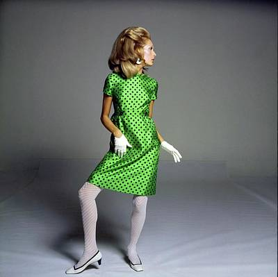 Photograph - Model Wearing A Shannon Rodgers Dress by Bert Stern