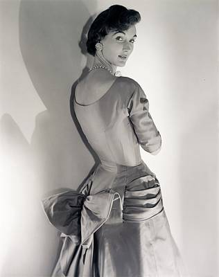 Photograph - Model Wearing A Silk Twill Dress by Horst P. Horst