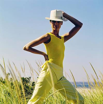 Photograph - Model Wearing A Yellow Loomtogs Ensemble by John Cowan