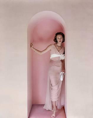 Photograph - Model Wearing An Edward Abbott Dress by Richard Rutledge