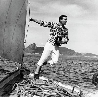 Photograph - Model Wearing  Broadcloth Shirt by Richard Waite