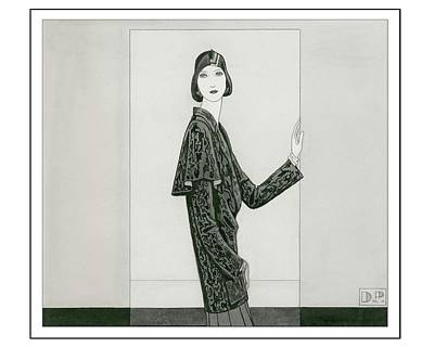 Model Wearing Chanel And Marie-christiane Art Print by Douglas Pollard