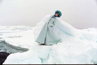 Photograph - Model Wearing Coat In Arctic Circle by John Cowan