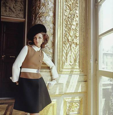 Photograph - Model Wearing Mila Schon Coat Dress by Henry Clarke