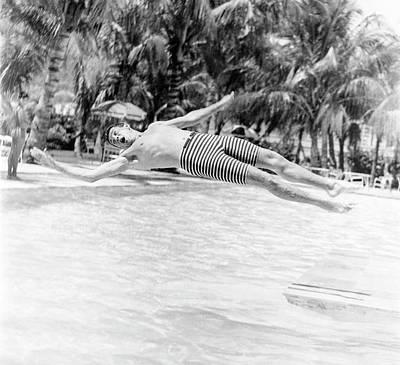 Photograph - Model Wearing Robert Bruce Trunks by Richard Waite